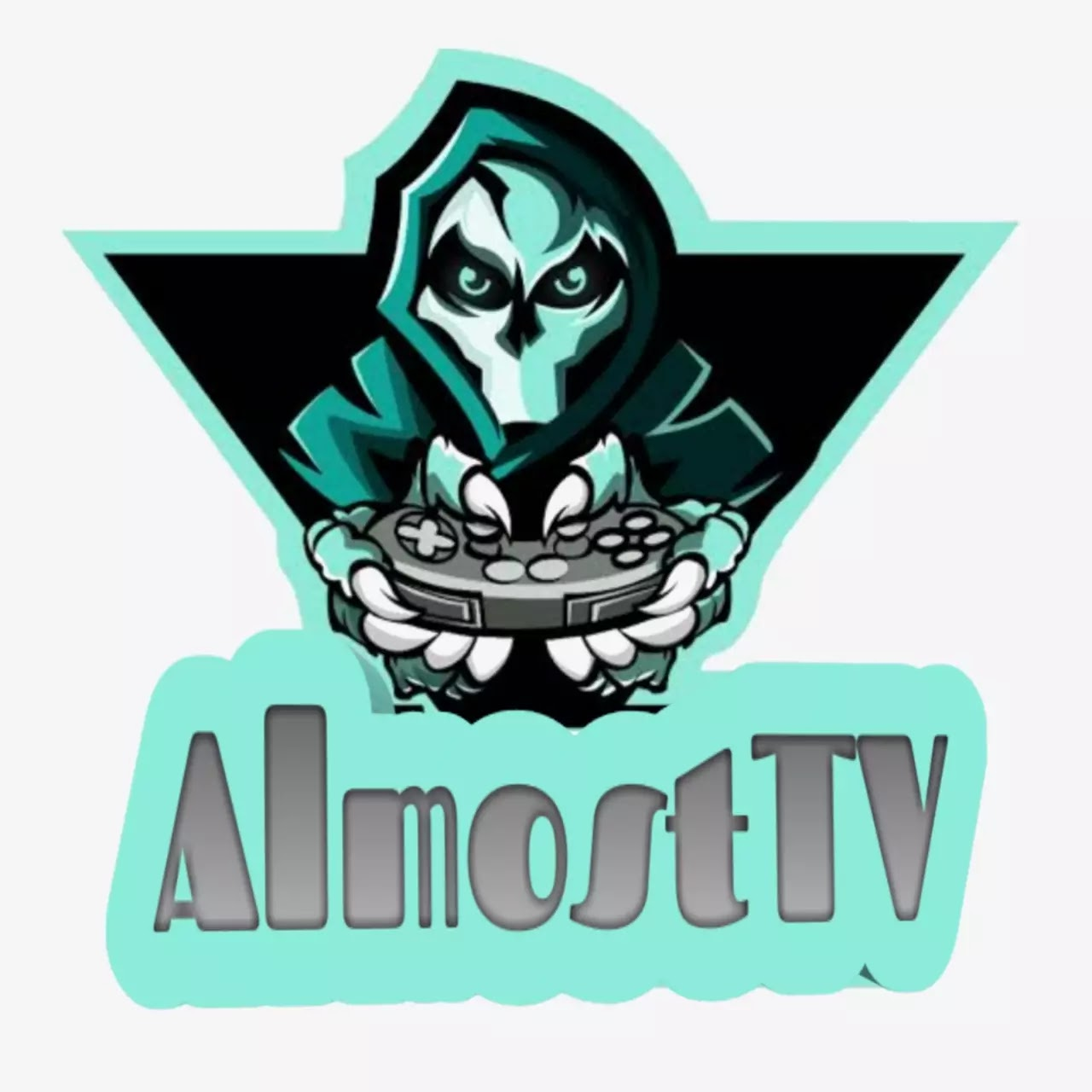 AlmostTV logo design Gamer YouTube channel