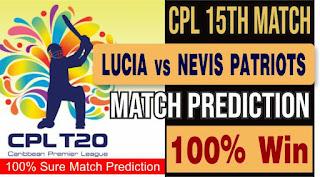 Saint Lucia Kings vs St Kitts and Nevis Patriots 15th T20 100% Sure Match Prediction Hero CPL T20 Lucia vs Patriots 15th Match Caribbean Premier League