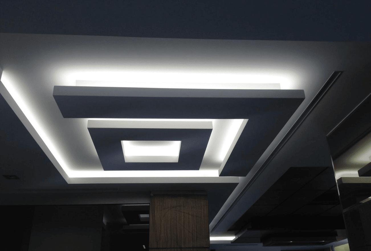 افكار ديكورات جبسون بورد اسقف صالات بسيطة