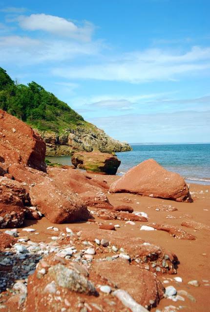 Czerwone skały na Babbacombe