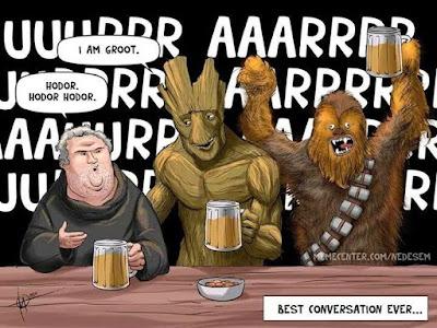 Meme sobre personajes conversadores