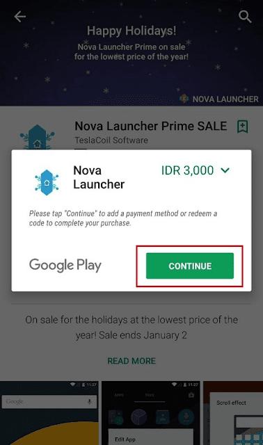 nova launcher diskon harganya jadi 3 ribu