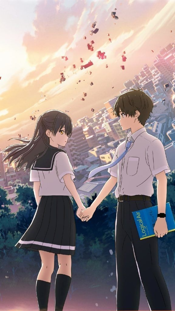 Gambar anime romantis hello world
