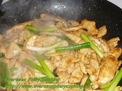 Stirfry Chicken with Ginger and Oyster Sauce - Cooking Procedure