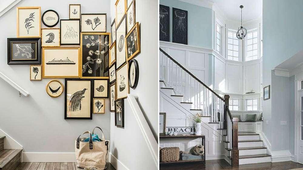 10 murs de cadre dans l 39 escalier lignes d co. Black Bedroom Furniture Sets. Home Design Ideas