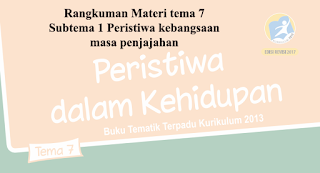 Rangkuman materi Tematik kelas 5 tema 7 Subtema 1