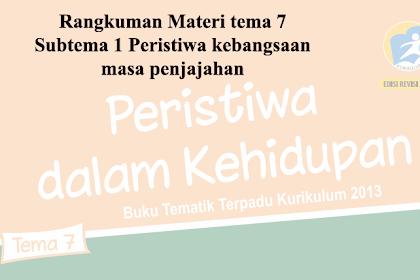 Rangkuman Materi  Kelas 5 Tema 7 Subtema 1