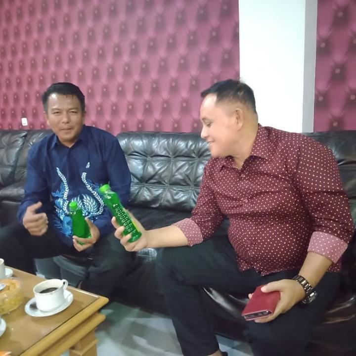 Bahas UMKM, Nanang Ermanto Bincang santai dengan Ketua Partai Perindo Lampung Selatan, Aribun Sayunis
