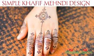 Stylish Khafif Mehndi Design