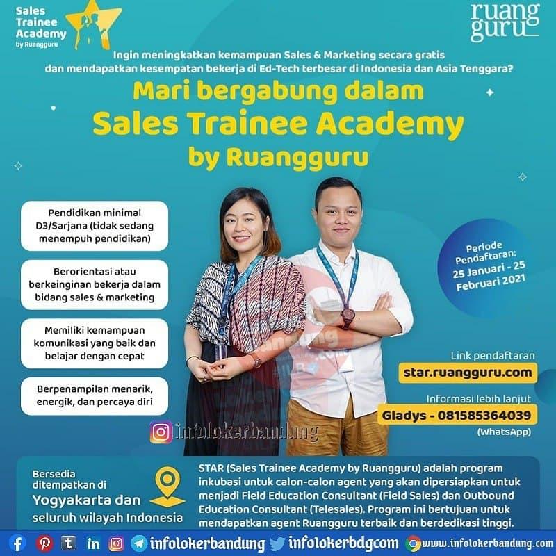 Mari Bergabung dalam Sales Trainee Academy by Ruangguru Bandung Februari 2021