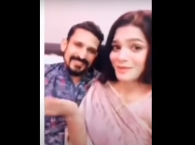 This time the video of Nasir and his wife went viral