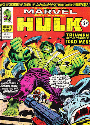 Mighty World of Marvel #218, the Hulk vs the Toad Men