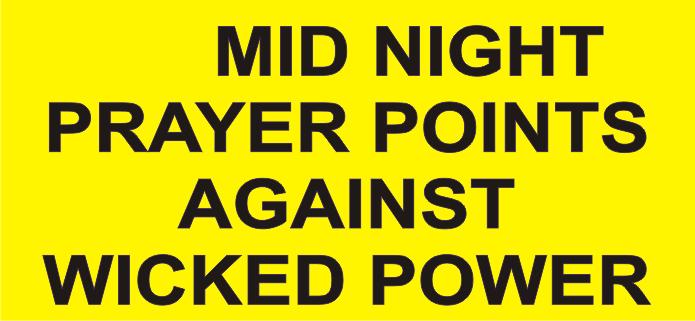 Mfm Prayer Points 2018 Pdf