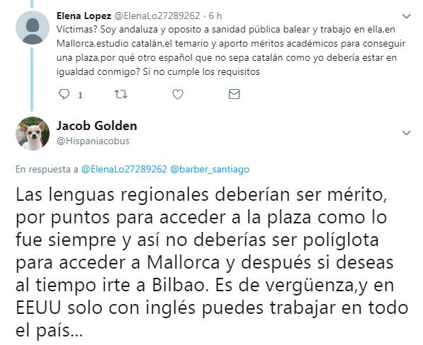 Idiota andaluza opositora en sanidad pública balear VS Golden Jacob