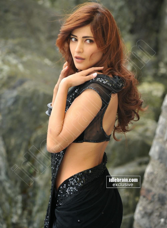 Actress Shruthi Hassan Hot Navel Show In Transperent Saree   Cine ...