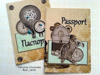 скрапбукинг обложка на паспорт Татьяна Ульянова