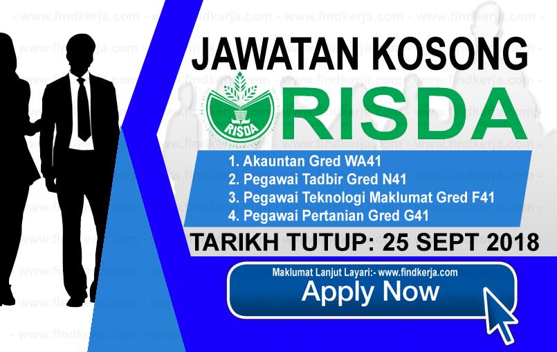 Jawatan Kerja Kosong RISDA logo www.ohjob.info www.findkerja.com september 2018