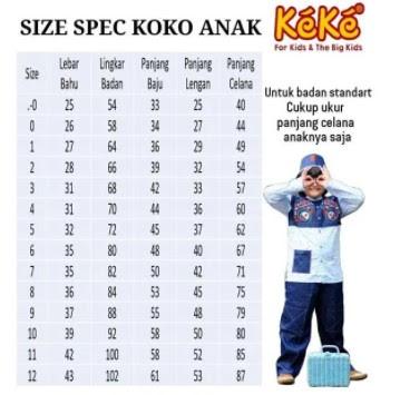 Ukuran Baju Anak 5 Tahun