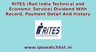 rites dividend details