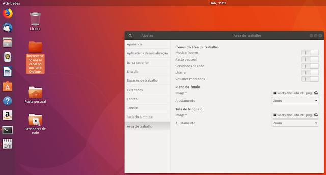 GNOME Shell sem Área de trabalho