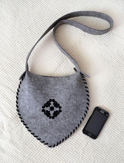 сумка из фетра ручной работы