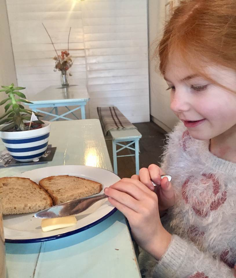 The Cook House Ouseburn | Breakfast with Kids - sourdough toast and butter