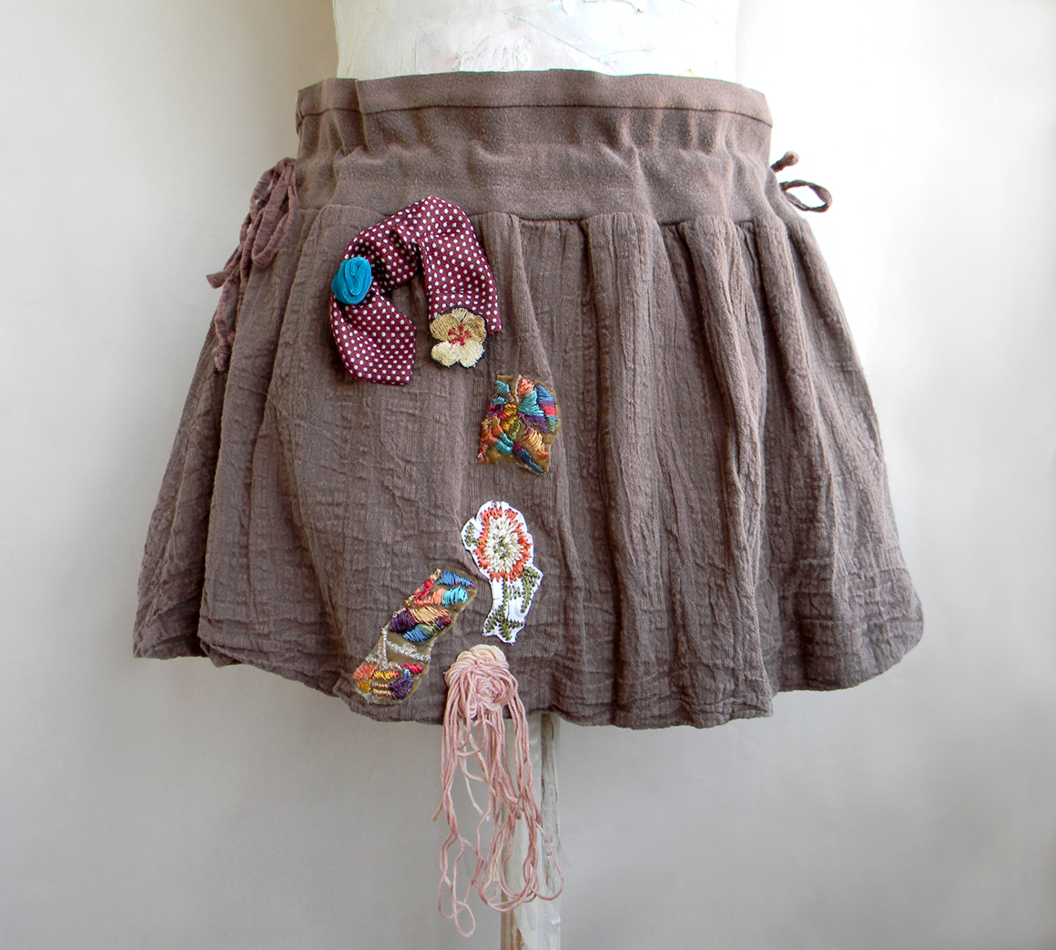 Unique Handcrafted Mini Skirt Fashion Cotton Skirt