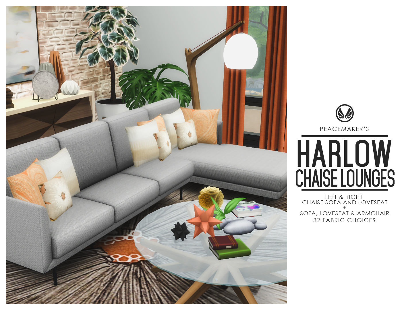 Awe Inspiring Simsational Designs Harlow Chaise Lounges Contemporary Evergreenethics Interior Chair Design Evergreenethicsorg