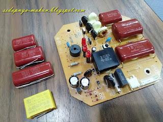 set capacitor yang perlu ditukar untuk satu papan litar