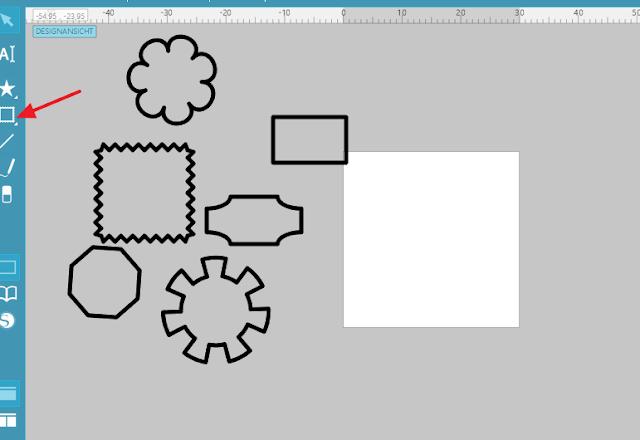 Screenshot Mint Studio: Rahmen