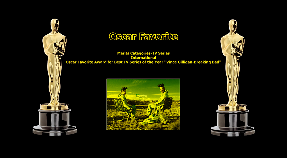 oscar favorite best tv series of the year international award vince gilligan breaking bad