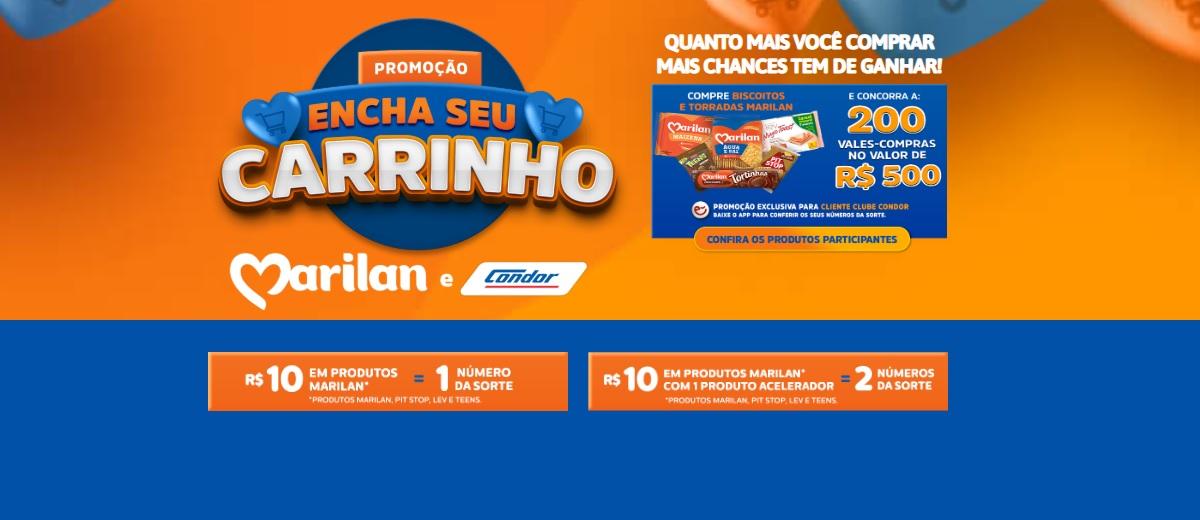 Participar Promoção Condor 2020 Encha Seu Carrinho Marilan - Supermercados