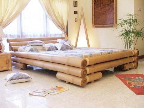 model tempat tidur bambu 3