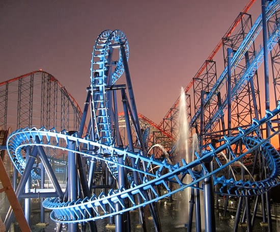 Pleasure Beach em Blackpool | Inglaterra