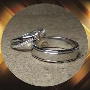cincin emas putih p824