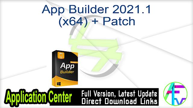 App Builder 2021.1 (x64) + Patch