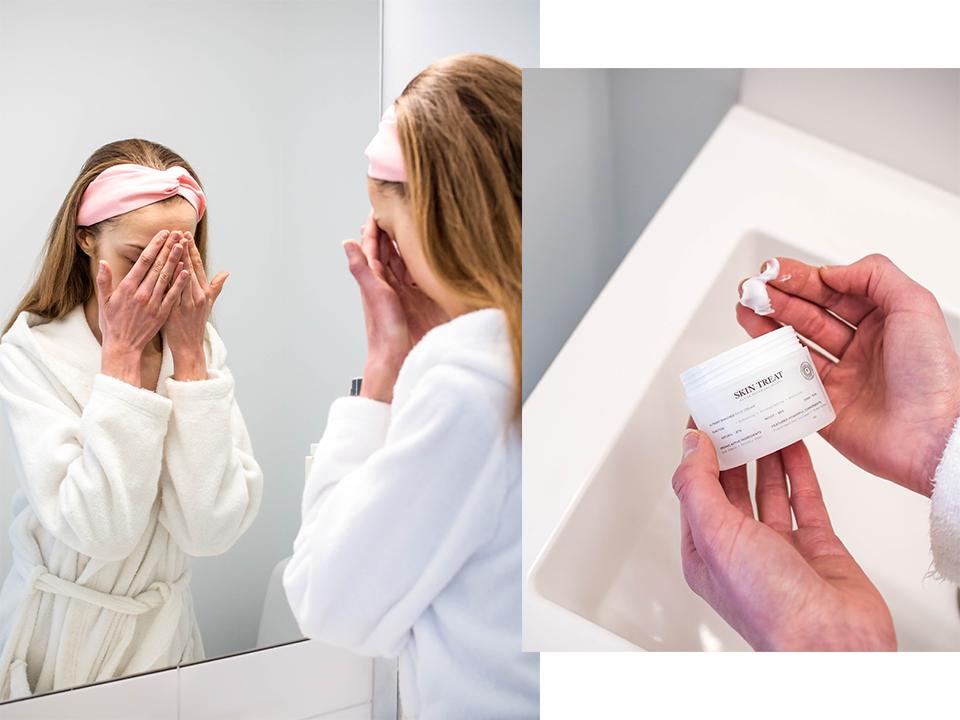 Skincare routine, moisturiser - Ihonhoitorutiini, kosteusvoide, Skin Treat Nutrient Enriched Face Cream