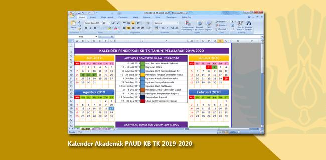 Kalender Akademik PAUD KB TK 2019-2020
