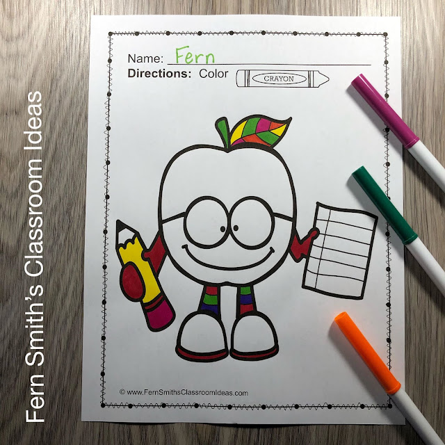 Back to School Coloring Pages and Apples Coloring Pages - 103 Pages of Coloring Book Fun Bundle