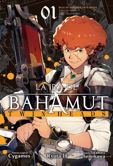 Shingeki no Bahamut (la ira de Bahamut) Twin Heads, guionizada por Takamaru Semikawa y dibujada por Ryota Hayatsu (Ryota-H), será lanzado este próximo 17 de octubre.