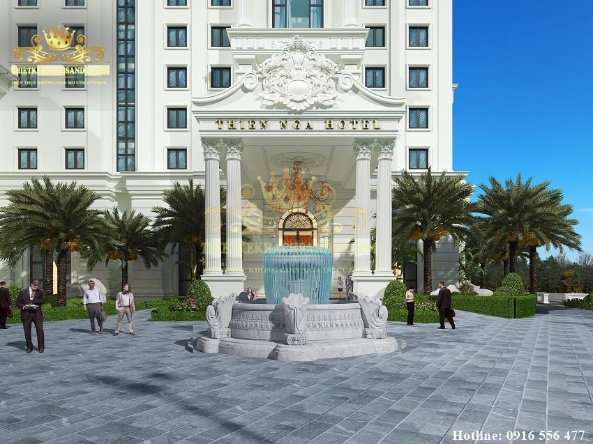 Hình ảnh: Sảnh chính thiết kế khách sạn 4 sao Thiên Nga WEDDING