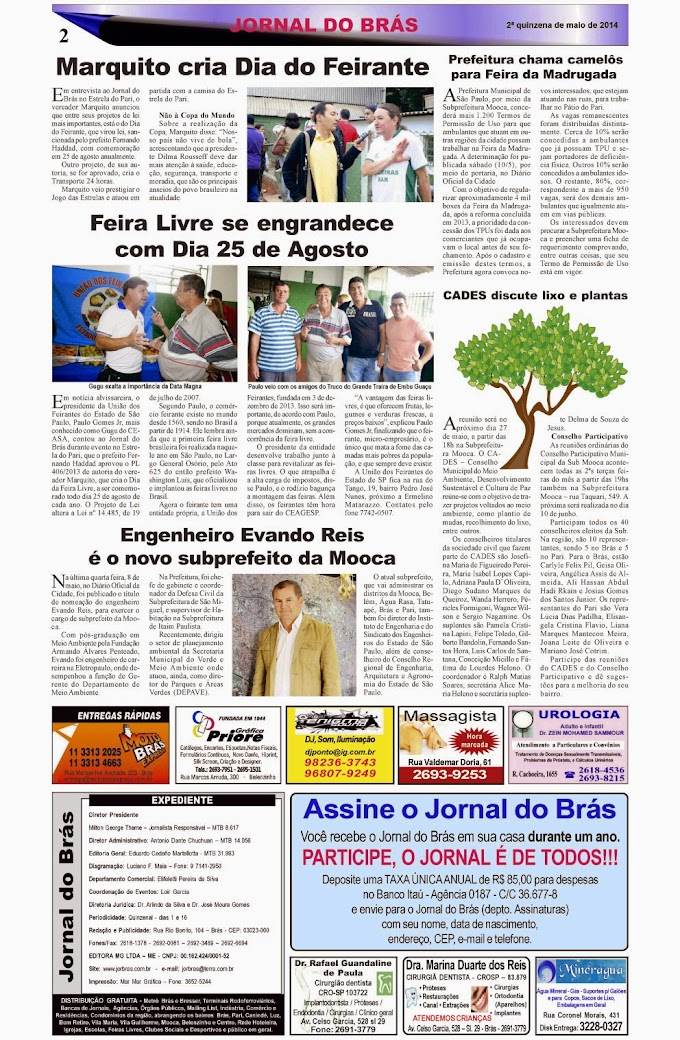 Destaques da Ed. 249 - Jornal do Brás