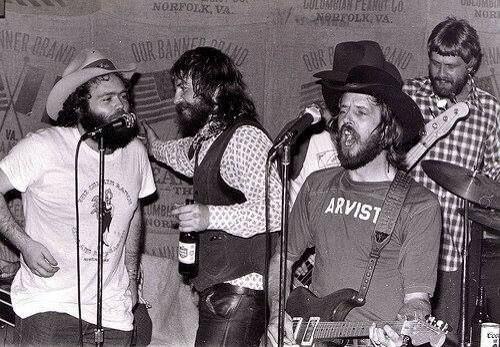 B.W. Stevenson, Ray Wylie Hubbard, Rusty Weir and Steven Fromholz. (Créditos: Judy Hubbard)