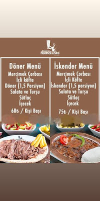 istanbul ramazan menüsü üsküdar iftar menüsü 2020 dönerci hamdi ramazan menüleri ramazan iftar menüleri