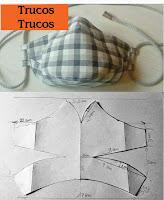 Moldes para hacer cubrebocas caseros