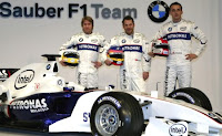 Robert Kubica Nick Heidfeld Jacques Villeneuve BMW Sauber 2006