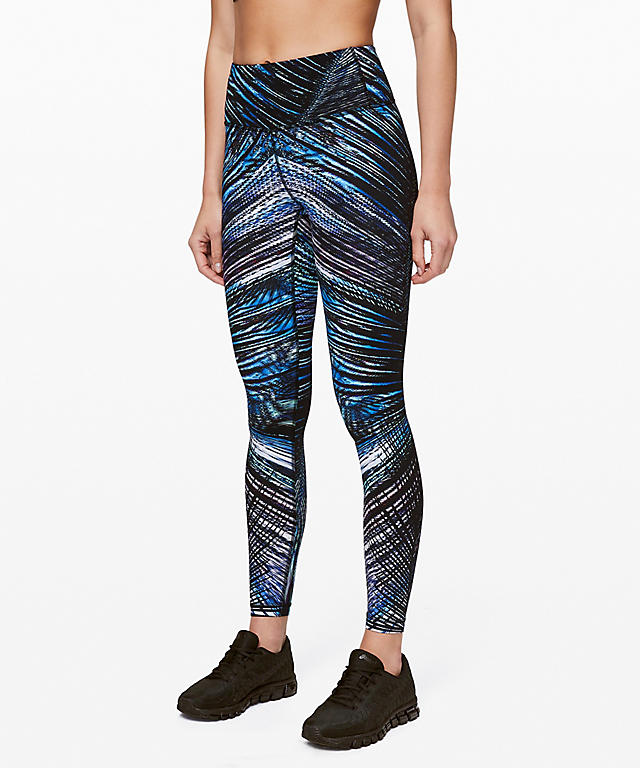 3b59494d4 New print - Tropics Blue Black in an Energy Bra and Speed Wunder Tights.