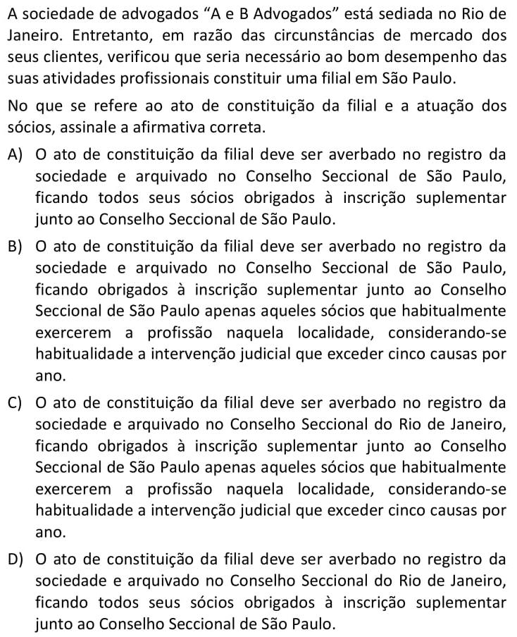 """A sociedade de advogados """"A e B Advogados"""" está sediada no Rio de Janeiro"""