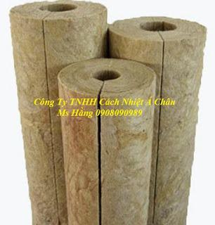Ống bông khoáng Rockwool bọc đường ống nóng, không bén lửa, cách nhiệt tốt  1571646821588