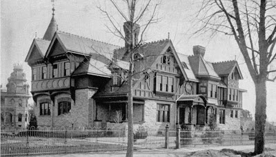 Carriage House and Coachmen's Residence w/Gray Towers in Background G.G. Green estate Woodbury, New Jersey